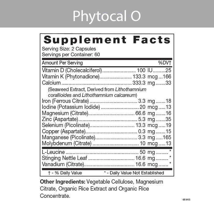 Phytocal O - Multimineral